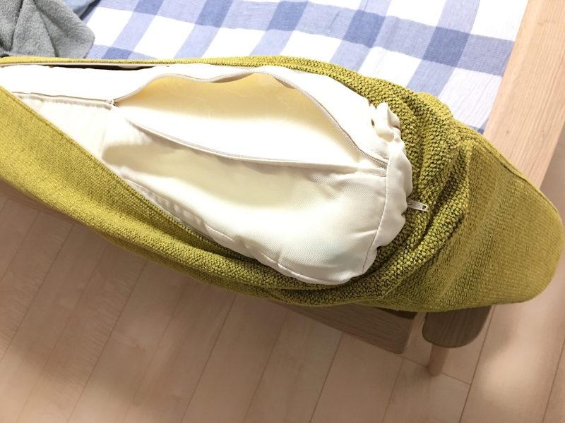 カリモクソファはカバーを外して洗える