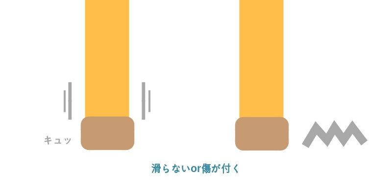 イスの脚による床の傷防止用キャップ
