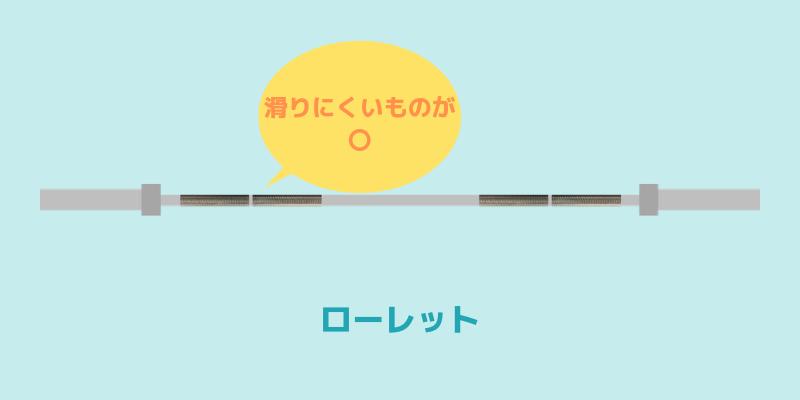 オリンピックシャフトのローレットは滑りにくい物を選ぶ