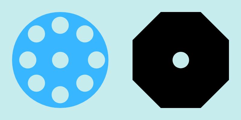 バーベルプレートの形状