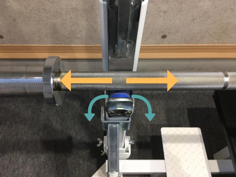ブルのラックは回転するのでシャフトの位置を直しやすい
