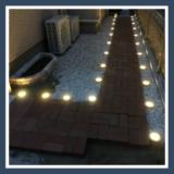 【埋め込み式ソーラーライトレビュー】お手軽に庭をライトアップ【防水LED自動点灯】