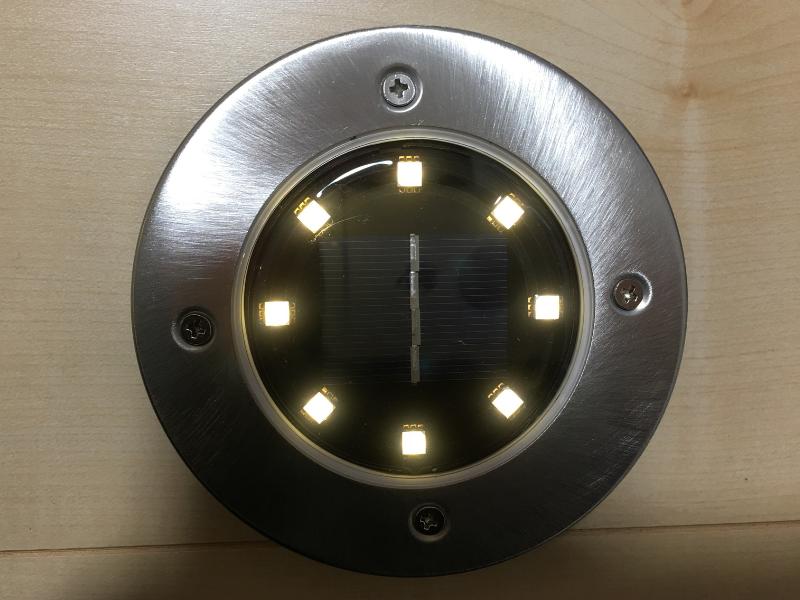ソーラーライト点灯