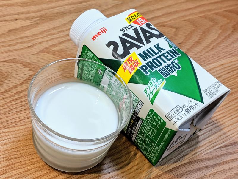 ザバスミルクプロテインすっきりフルーティー風味