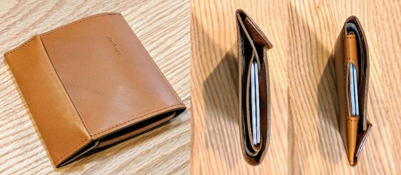 アブラサス薄い財布MAX収納時