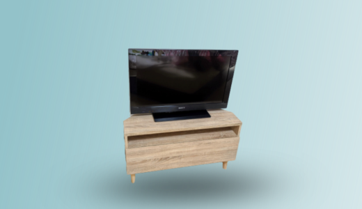 【LOWYA「コーナーテレビ台」レビュー】スリム&コンパクトで狭い部屋や寝室にぴったり