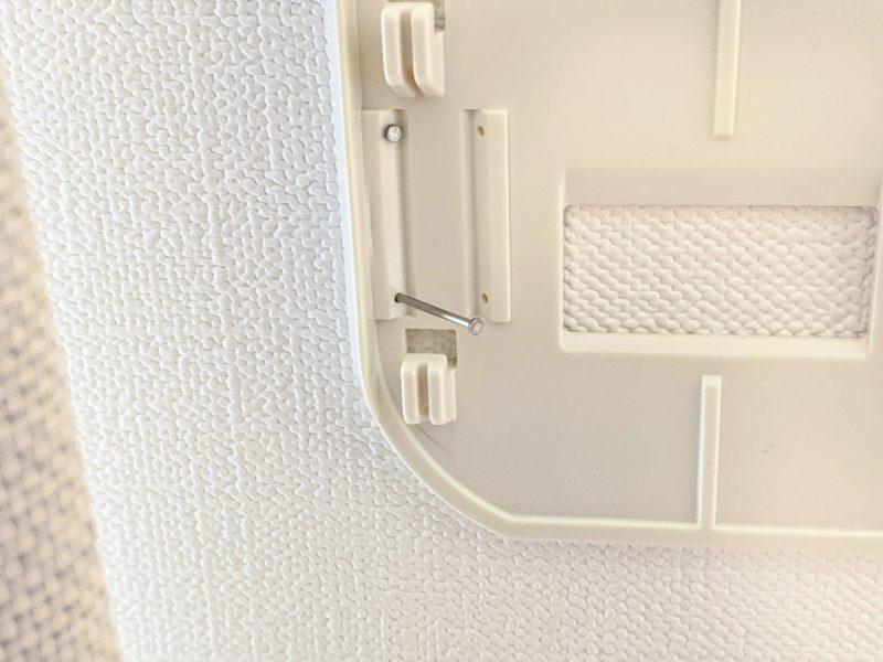 壁付け物干しはピン17本で固定するので安定感バッチリ