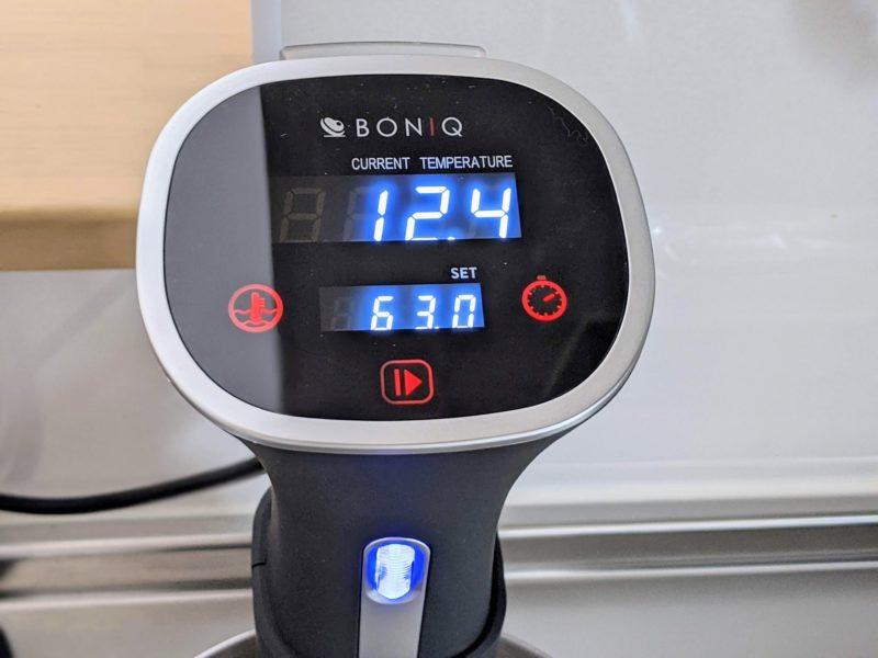 BONIQの温度とタイマーをセット