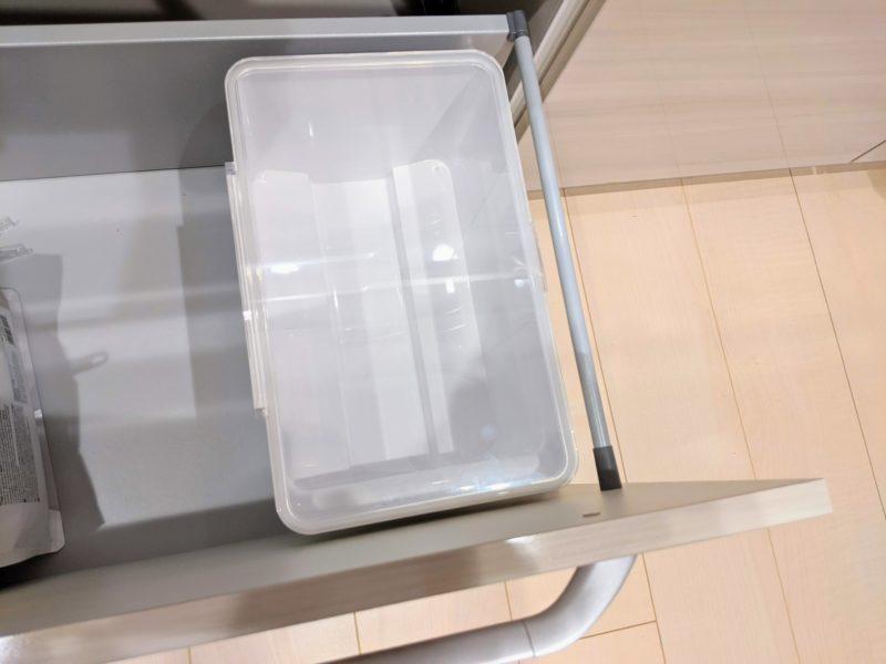 tower米びつはキッチンの引き出しにちょうど良いサイズ
