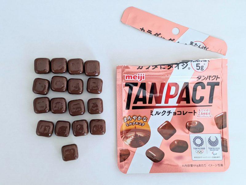 タンパクトミルクチョコレート個数