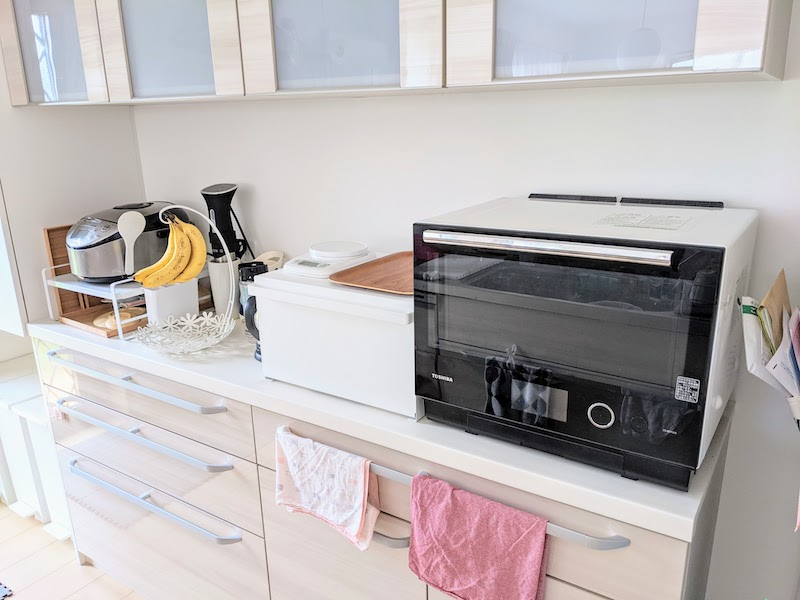 山崎実業ブレッドケースタワーでキッチンがスッキリ